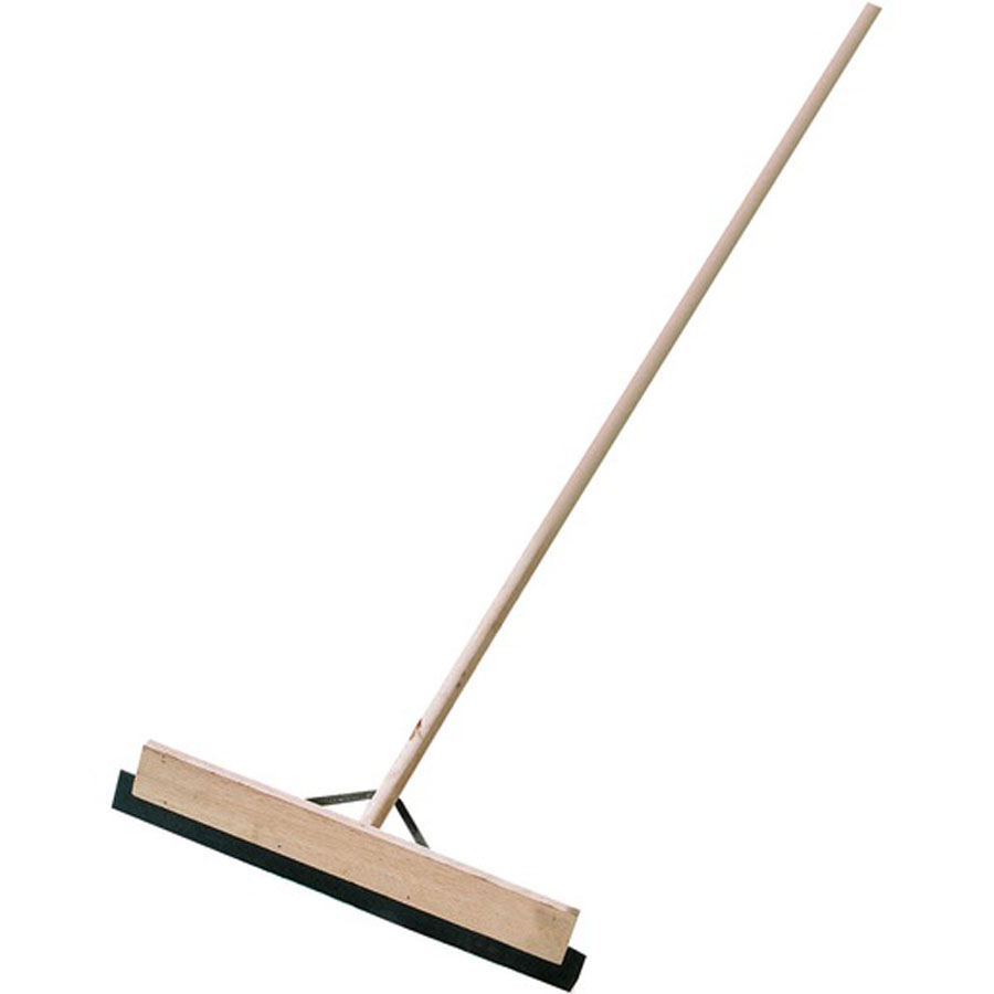 Brushware Wooden Squeegee with Rubber Blade & Stayed Handle 600mm