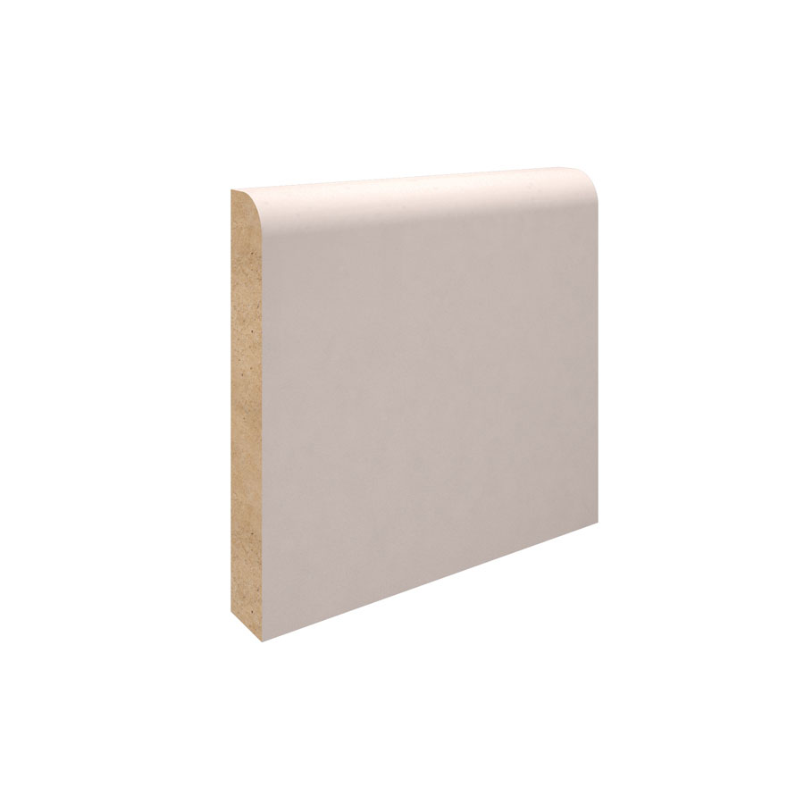 14.5mm x 100mm x 5.4m Primed MDF 9mm Radius Pencil Round Skirting Board