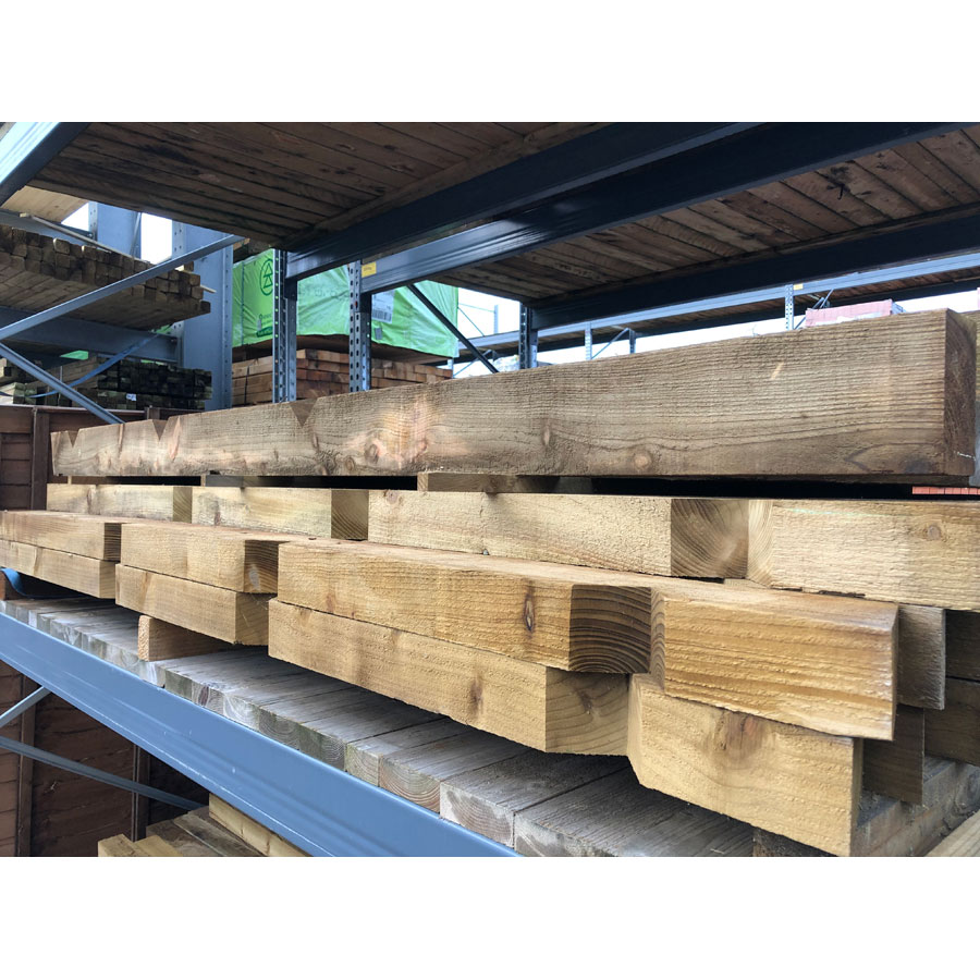 75mm x 125mm x 2400mm Green Treated Timber Notched Post