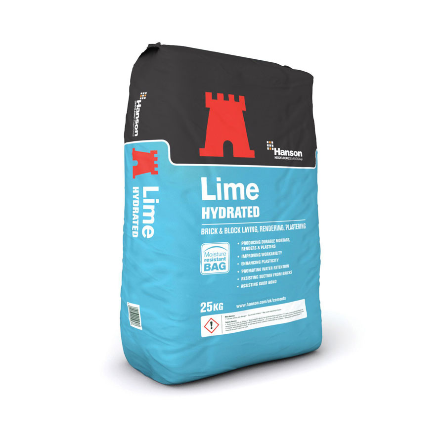 Hanson Hydrated Lime Cement 25Kg Bag