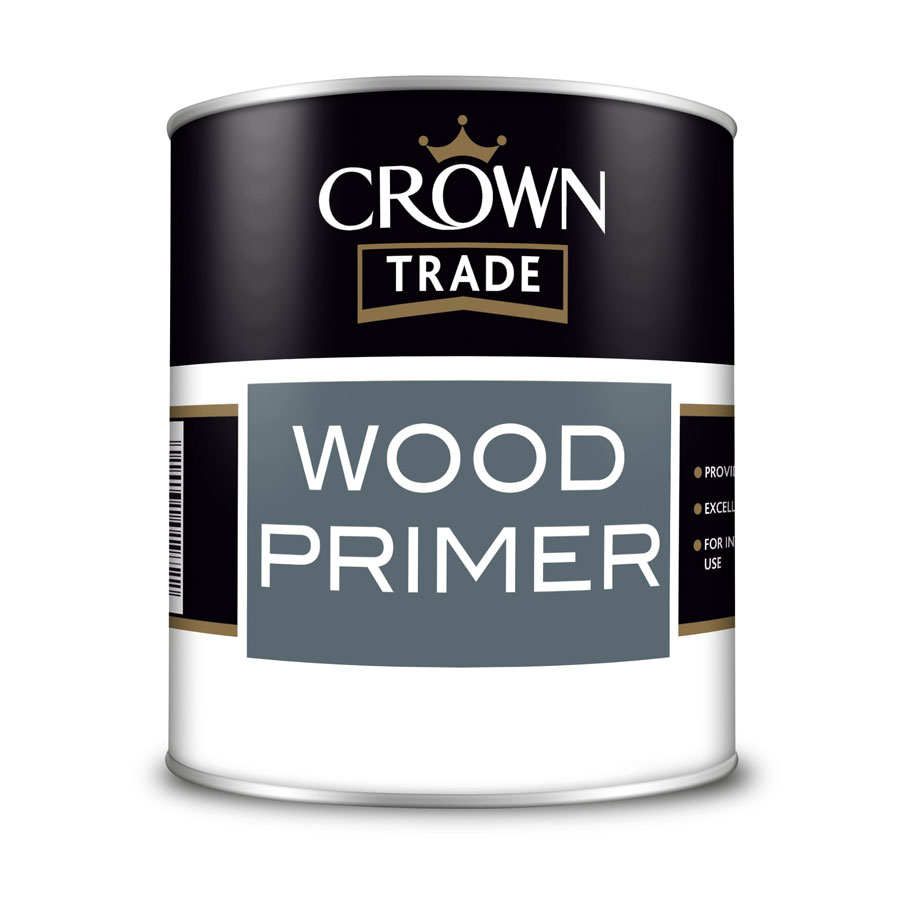 Crown Trade Wood White Primer 1 Ltr