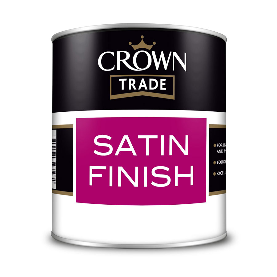 Crown Trade Solvent White Satin Finish 1 Ltr