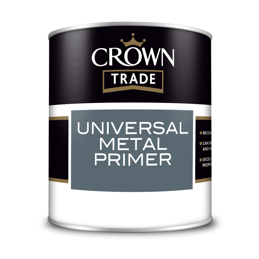 Crown Trade Universal Metal Grey Primer 1 Ltr