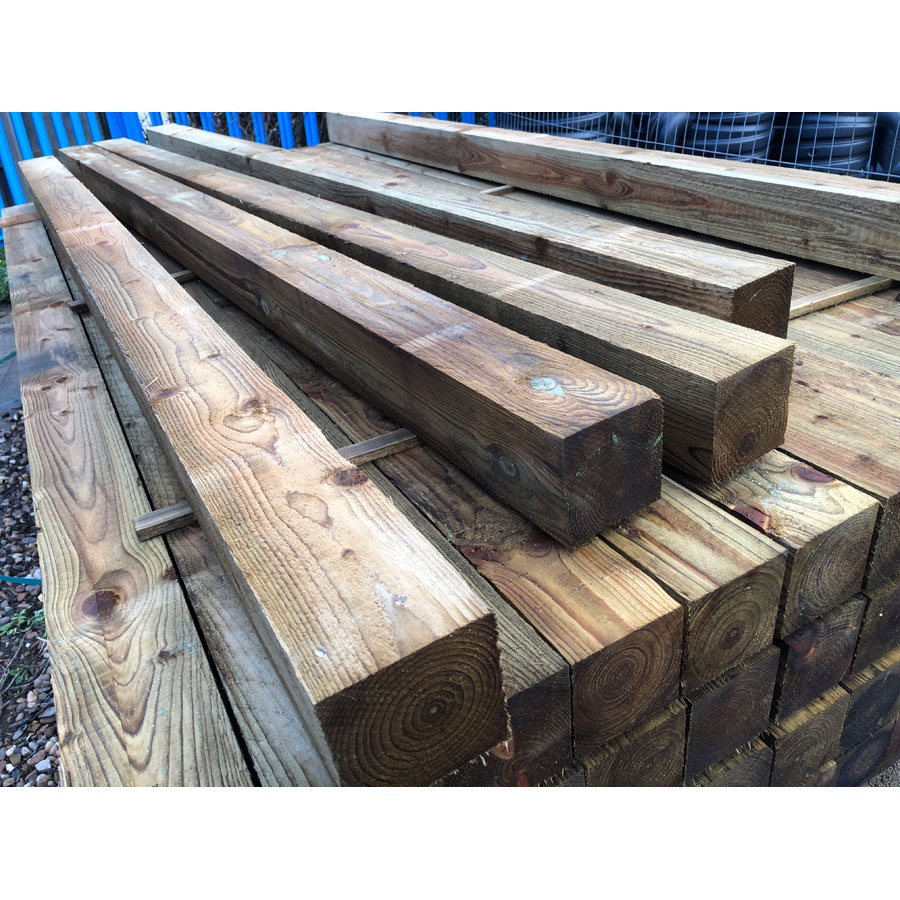 100mm x 100mm x 2400mm Green Treated Timber Fence Post