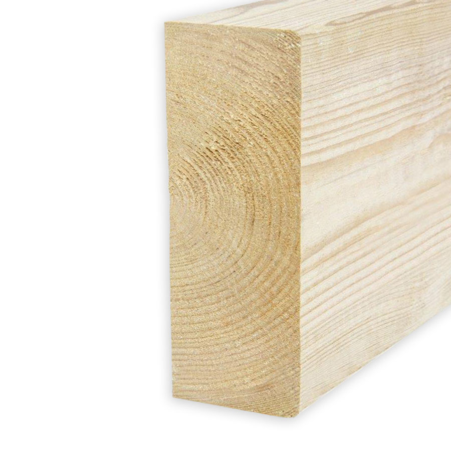 47mm x 100mm x 3.6m C16/C24 Dry Graded Regularised Untreated Timber