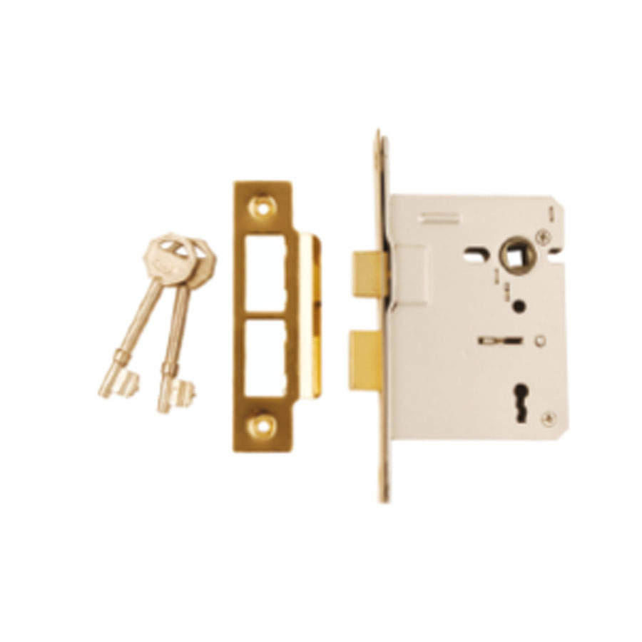 Dale Hardware 7083 Nickel Plated 76mm 3 Lever Mortice Sash Lock
