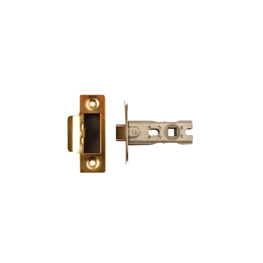 Dale Hardware 7167 Polished Brass 63mm Bolt Through Tubular Mortice Latch