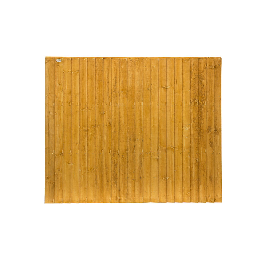 6' x 5' Golden Brown Featheredge Fence Panel