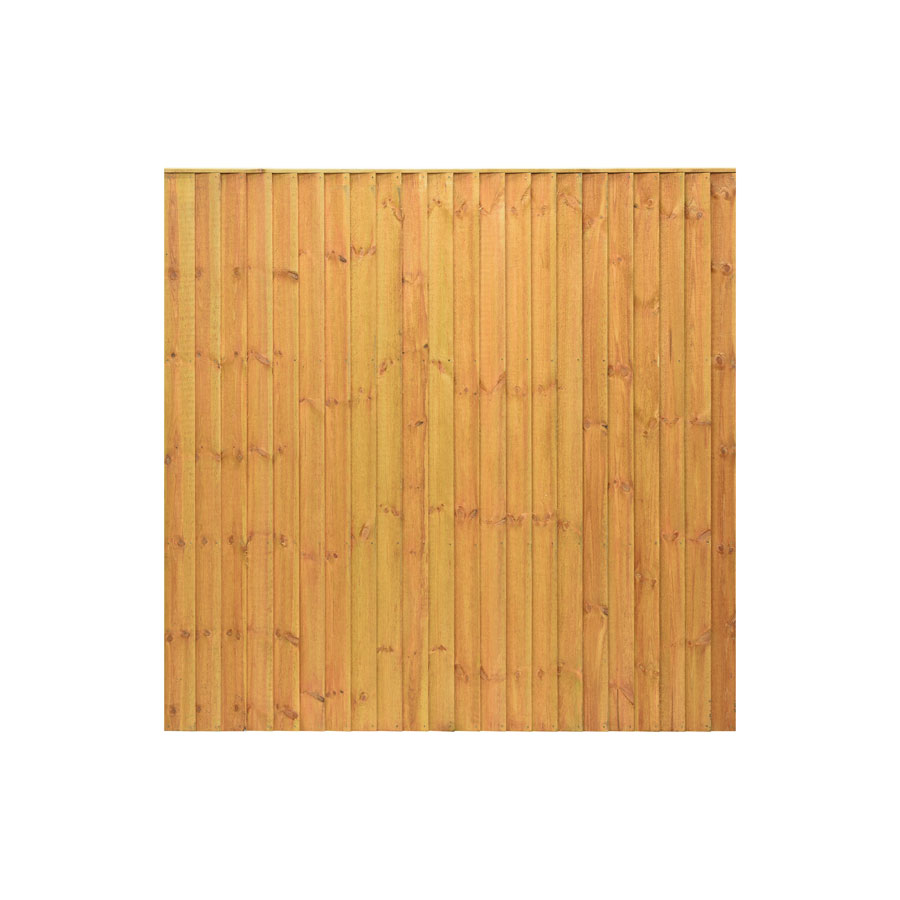 6' x 6' Golden Brown Featheredge Fence Panel