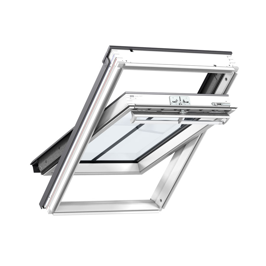 Velux GGL MK04 2070 780mm x 980mm White Centre Pivot Roof Window