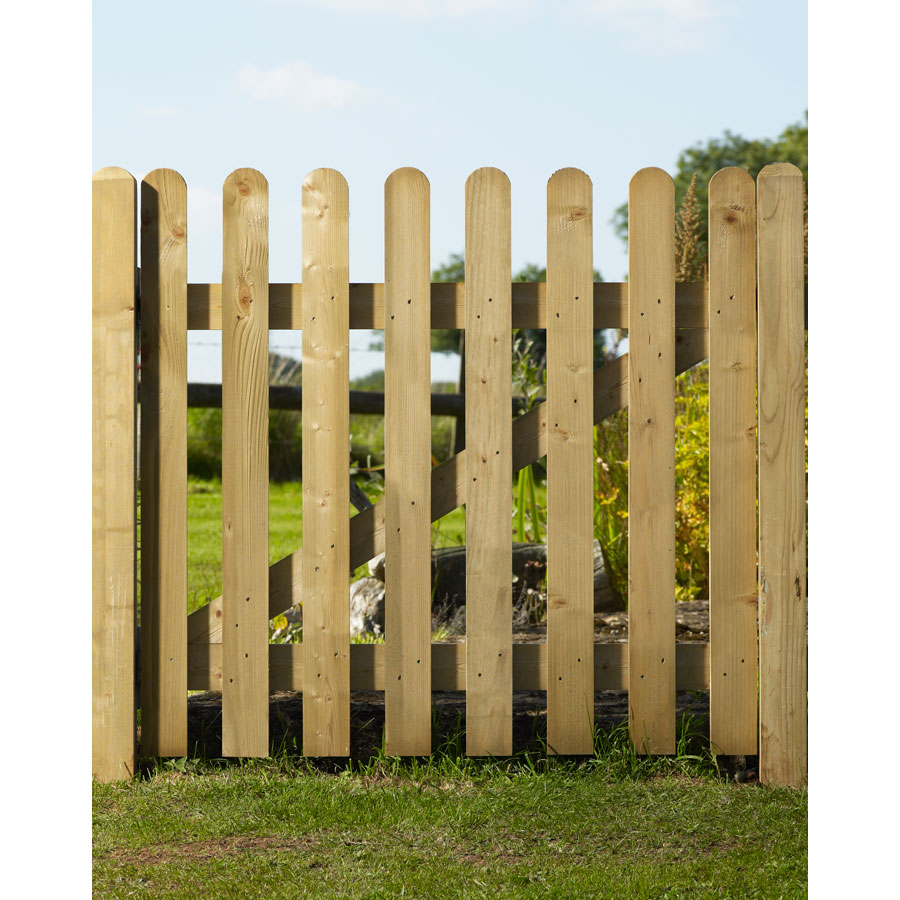 Charltons HEN0.9 Planed Palisade 900mm x 900mm Henley Side Timber Gate