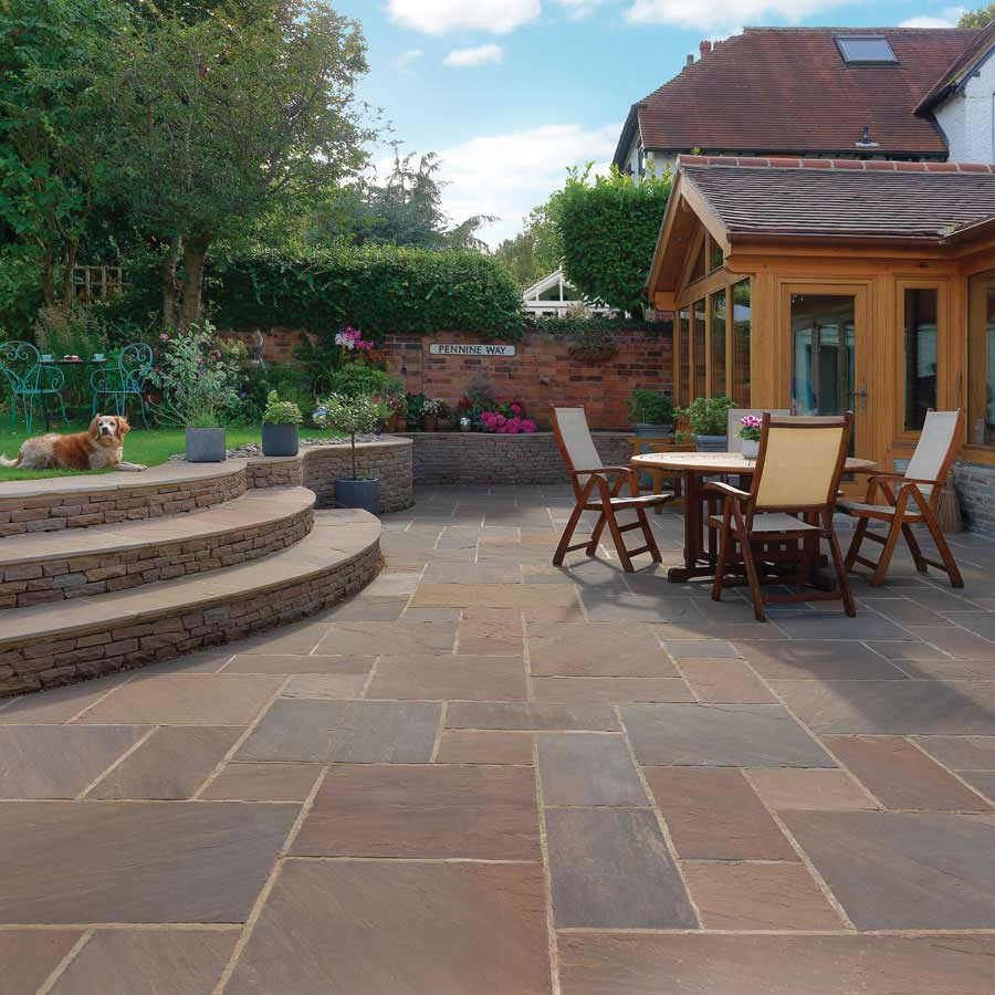 Pavestone Indian Raj Blend Classic Sandstone Paving Patio Pack (20.7m2)