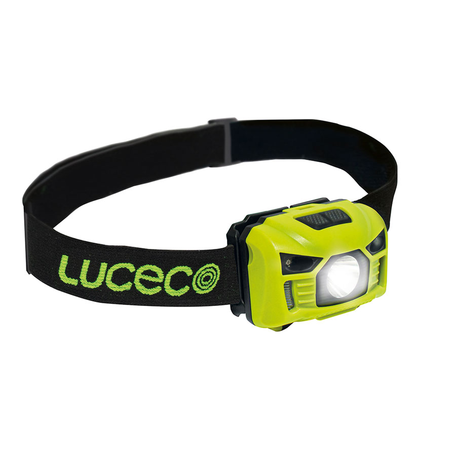 Luceco LILH15P65 Green 3W 150lm IP20 LED Inspection Head Torch