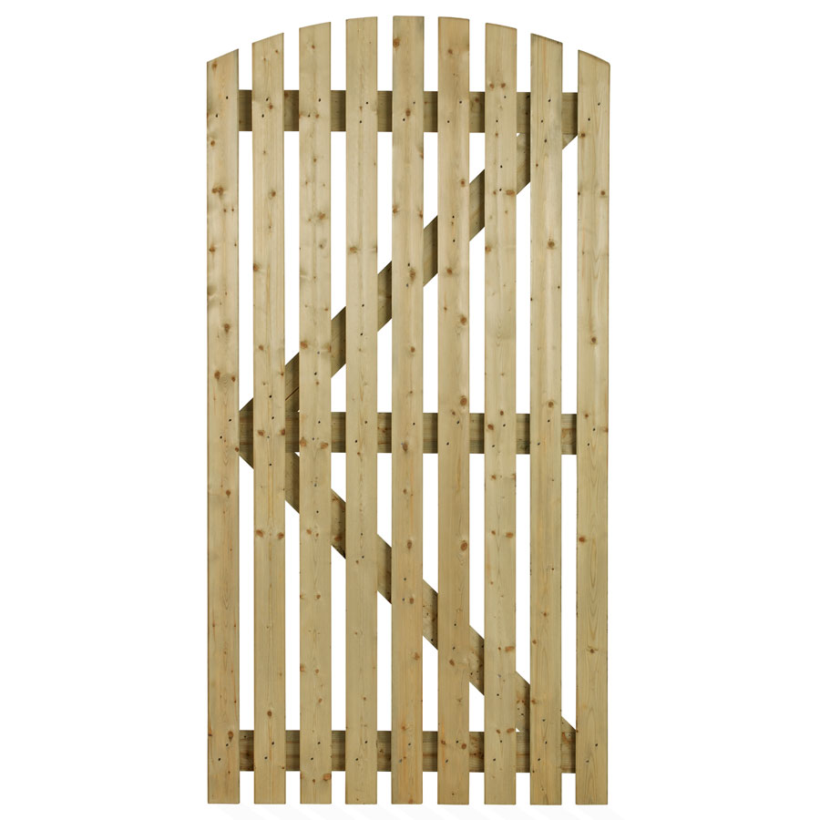 Charltons ORC 3 Slatted 915mm x 1830mm Orchard Curved Timber Gate