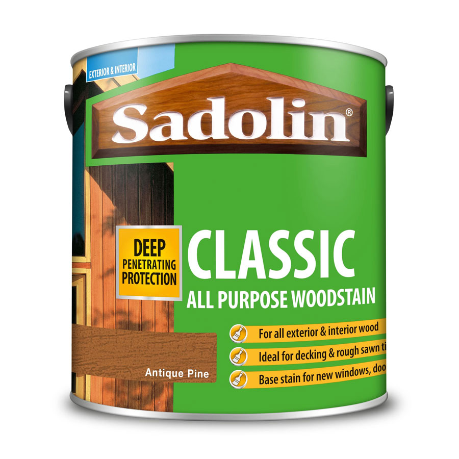 Sadolin Classic Antique Pine 2.5 Ltr Wood Stain