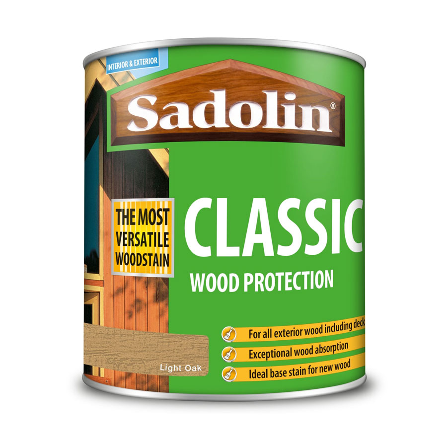 Sadolin Classic Light Oak 1 Ltr Wood Stain