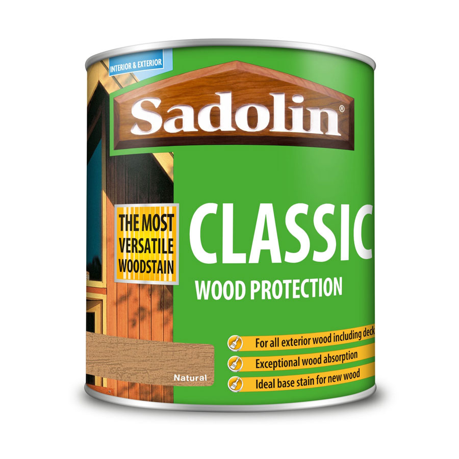 Sadolin Classic Natural 1 Ltr Wood Stain