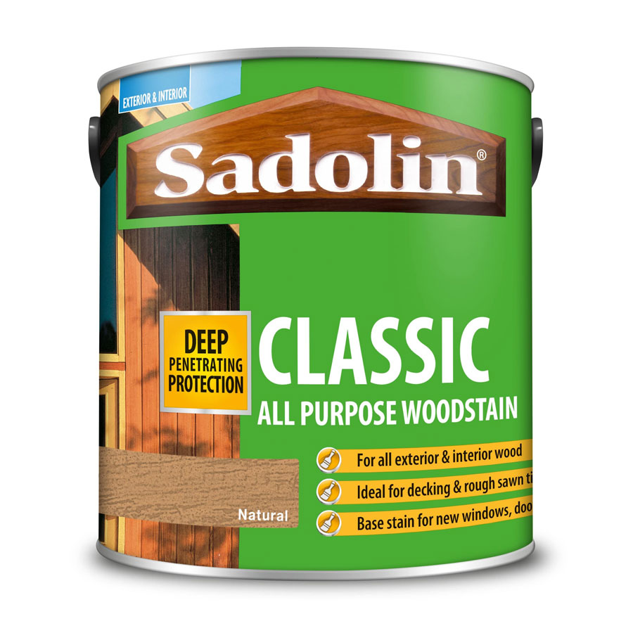 Sadolin Classic Natural 2.5 Ltr Wood Stain