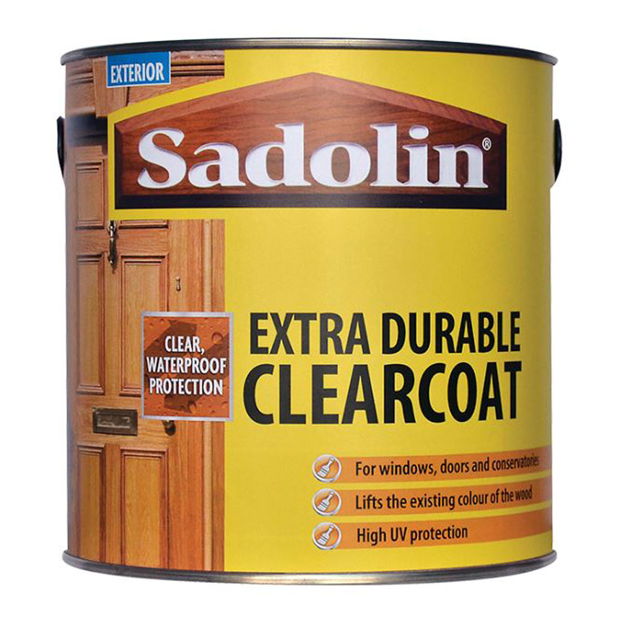 Sadolin Exterior Extra Durable Clear Satin 1 Ltr Clearcoat