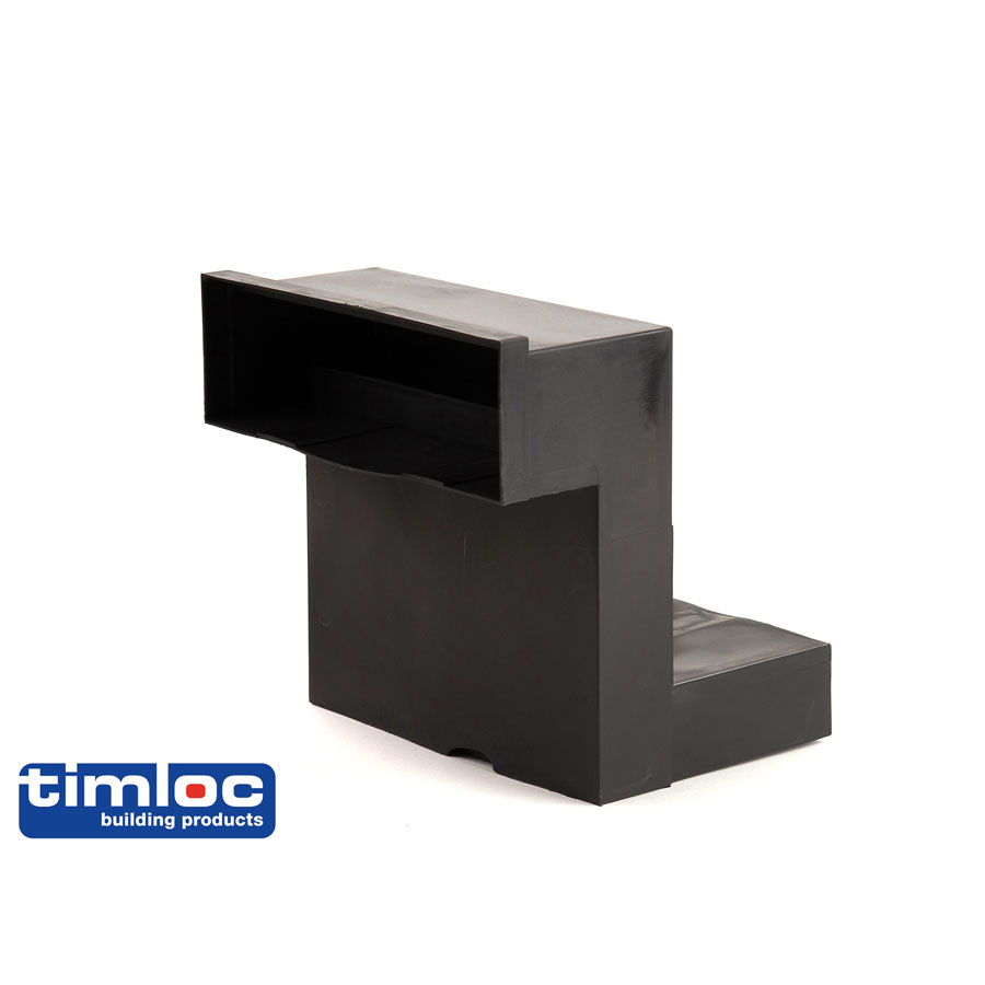 Timloc Telescopic Underfloor Black Ventilation
